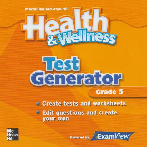 Health & Wellness: Test Generator Grade 5