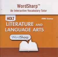 Holt Literature & Language Arts: Wordsharp Interactive Vocabulary Tutor 5th Course