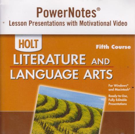 Holt Literature & Language Arts: PowerNotes 5th Course