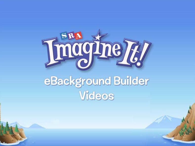 SRA Imagine It! Background Builders: Grades PreK-6