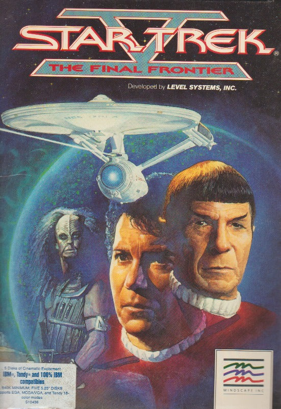 Star Trek V: The Final Frontier w/ Manual, Pin, & Big Box