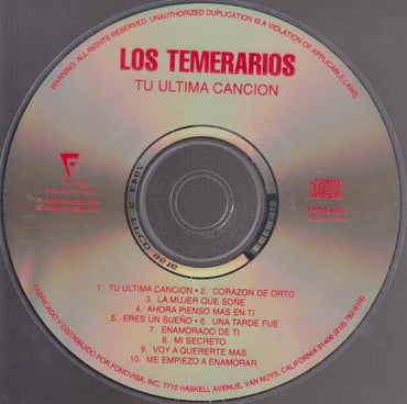 Los Temerarios: Tu Ultima Cancion w/ No Artwork