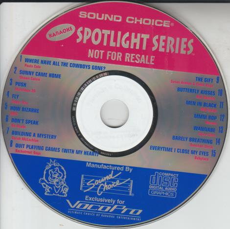 Sound Choice: Spotlight Series Promo w/ No Artwork