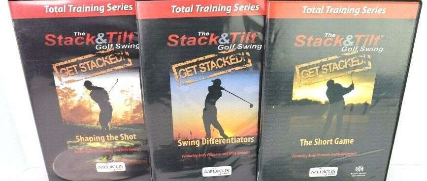 The Stack & Tilt Golf Swing: Total Training Series 3-Disc Set