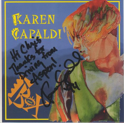 Karen Capaldi: Mind In A Box Autographed w/ Artwork