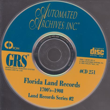 GRS: Florida Land Records 1700s-1908 #2
