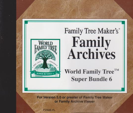 Family Tree Maker: Family Archives World Family Tree: Super Bundle 6