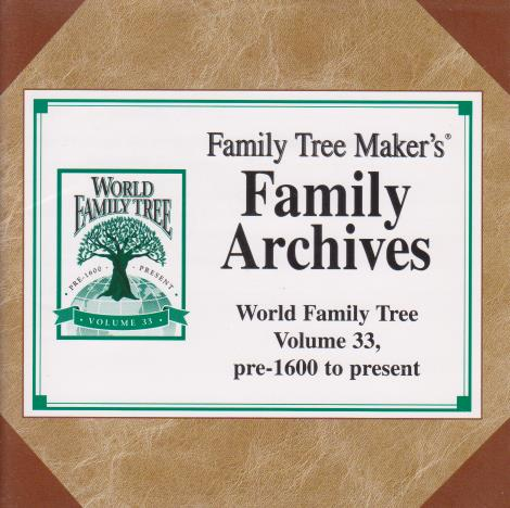 Family Tree Maker: Family Archives World Family Tree Vol. 33-35