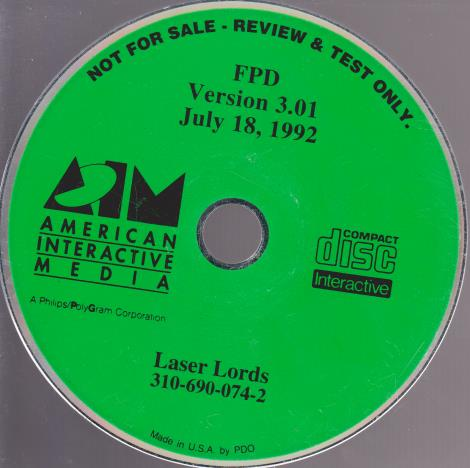 Laser Lords Testing Disc
