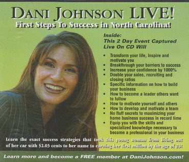 Dani Johnson Live! First Steps To Success In North Carolina!