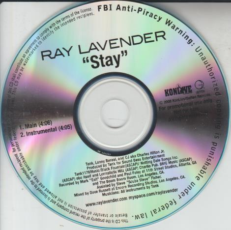 Ray Lavender: Stay Promo