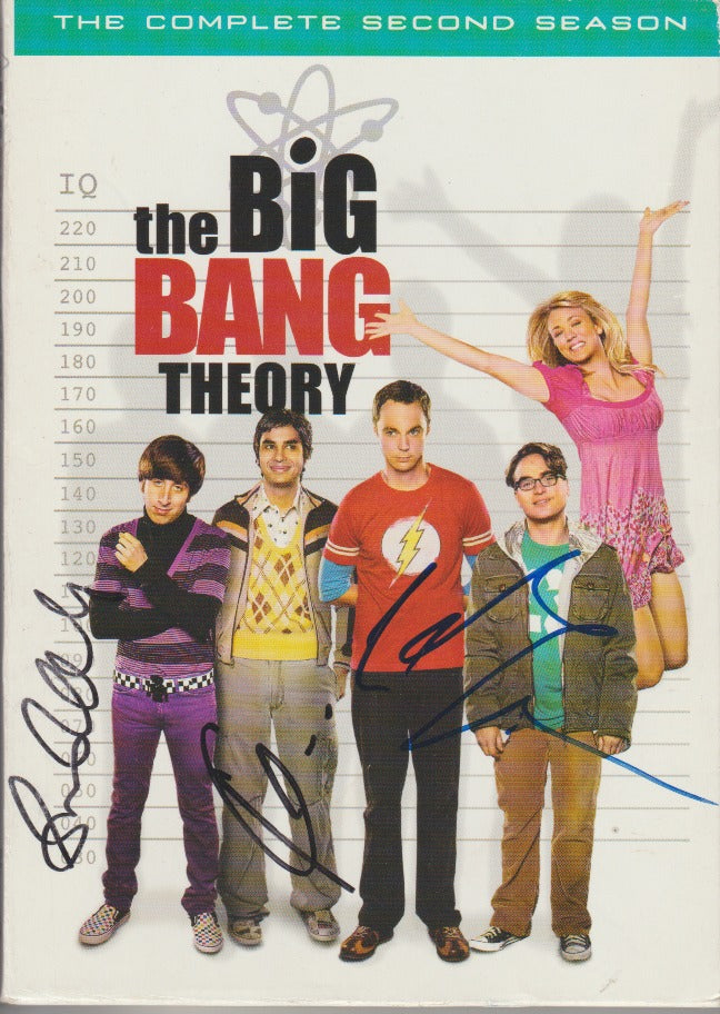 The Big Bang Theory: The Complete Second Season Autographed 4-Disc Set
