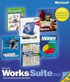 Microsoft Works Suite 2001 w/ Manual