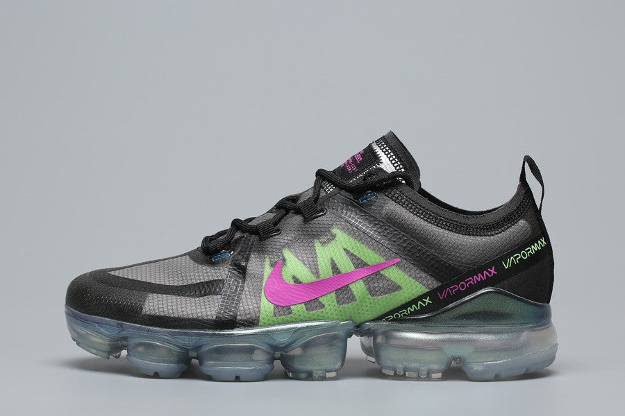 sports shoes f1ce1 4c968 NIKE AIR VAPORMAX 2019 PRM BLACK GREY GREEN PINK