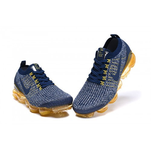 separation shoes cae4a a1dfb NIKE VAPORMAX FLYKNIT 3 MIDNIGHT NAVY ASH BLUE ORANGE