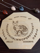 Load image into Gallery viewer, Wood Mystic Cat Pendulum Spirit Board