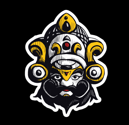 Yakshagana Kannada Laptop Sticker