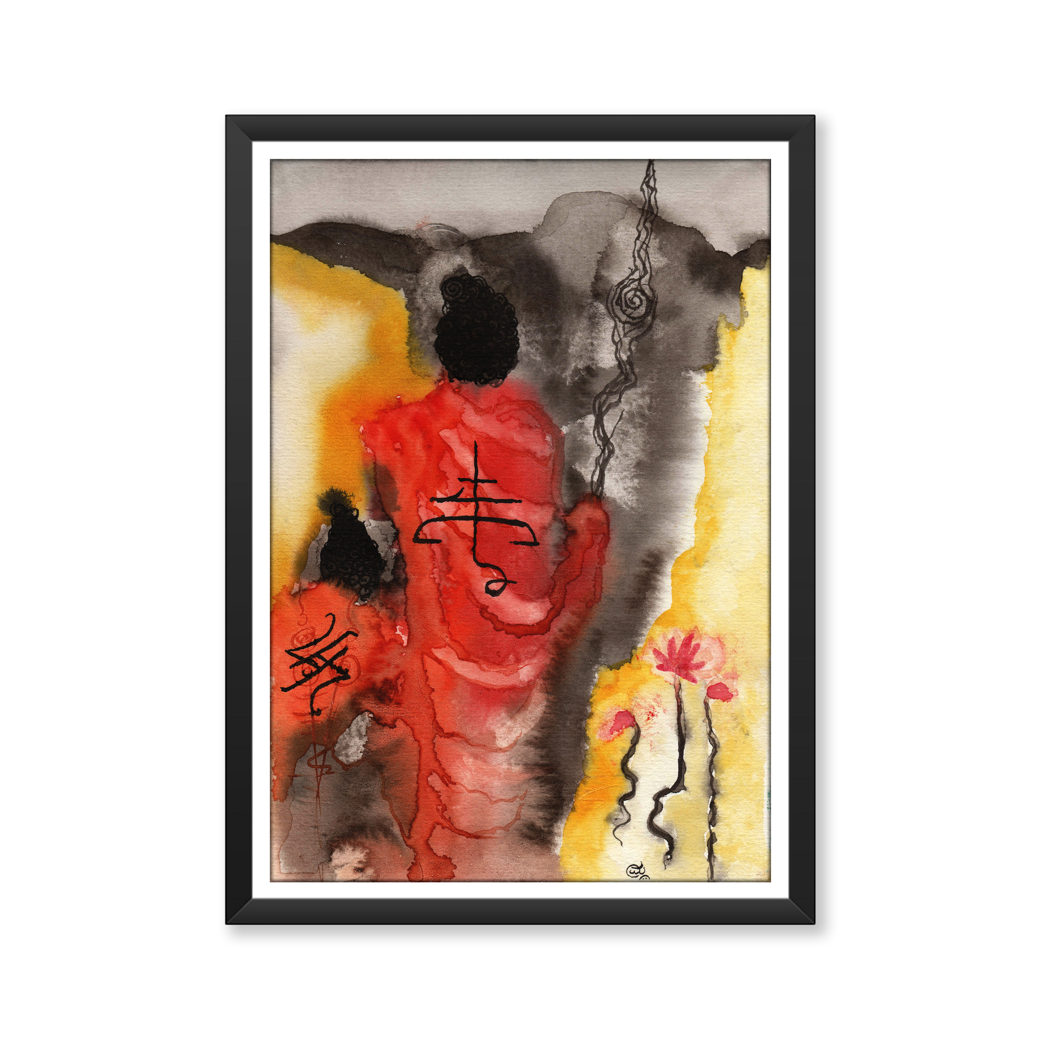 """Exit of Buddha"" Art Print"