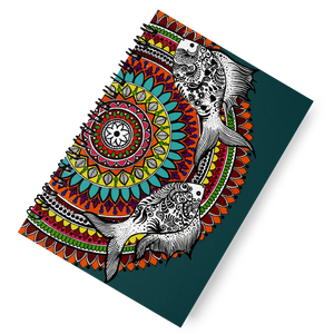 'Mandala Fish' Spiral Notebook