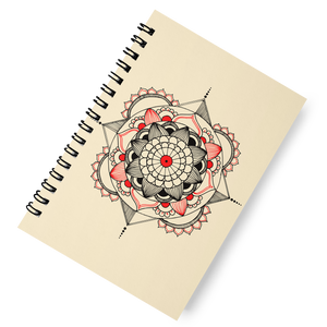 'Flower Mandala' Spiral Notebook