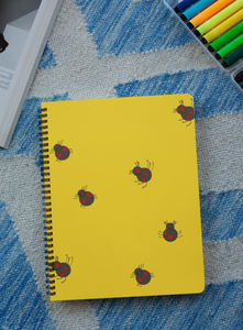 'Ladybird ' Digital Art Spiral Notebook