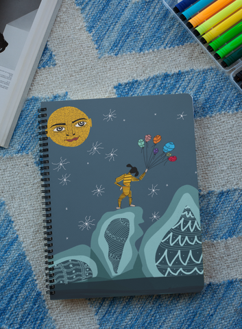 'Come to Play' Digital Art Spiral Notebook