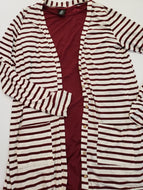 Favorite Cardi - Dark Wine Stripe