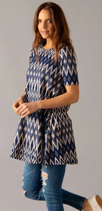 Swing Tunic - Navy Aztec