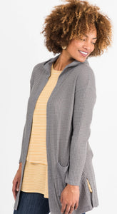 Hooded Cardi - Grey