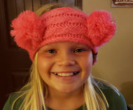 CC KIDS Double Pom Head Wrap - Candy Pink