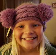 CC KIDS Double Pom Head Wrap - Lavender