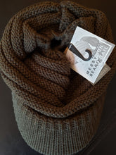 Load image into Gallery viewer, CC Beanie Cap w/ Ponytail Hole - Olive