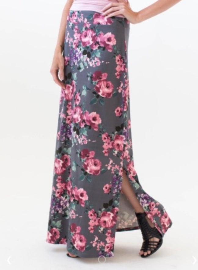 Maxi Skirt - Side Slit - Great Escape