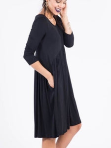 Muse Midi Dress - Solid Black