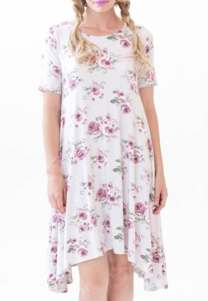 Sway Dress - Love Me Tender Silver & Mauve