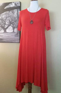 Sway Dress - Tomato Red