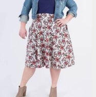 Midi Skirt w/ Pockets - Sage & Rust