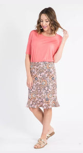 Flounce Pencil Skirt - Blush - I Got You Babe Floral