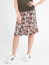 Load image into Gallery viewer, Flounce Pencil Skirt - Floral Sage & Rust