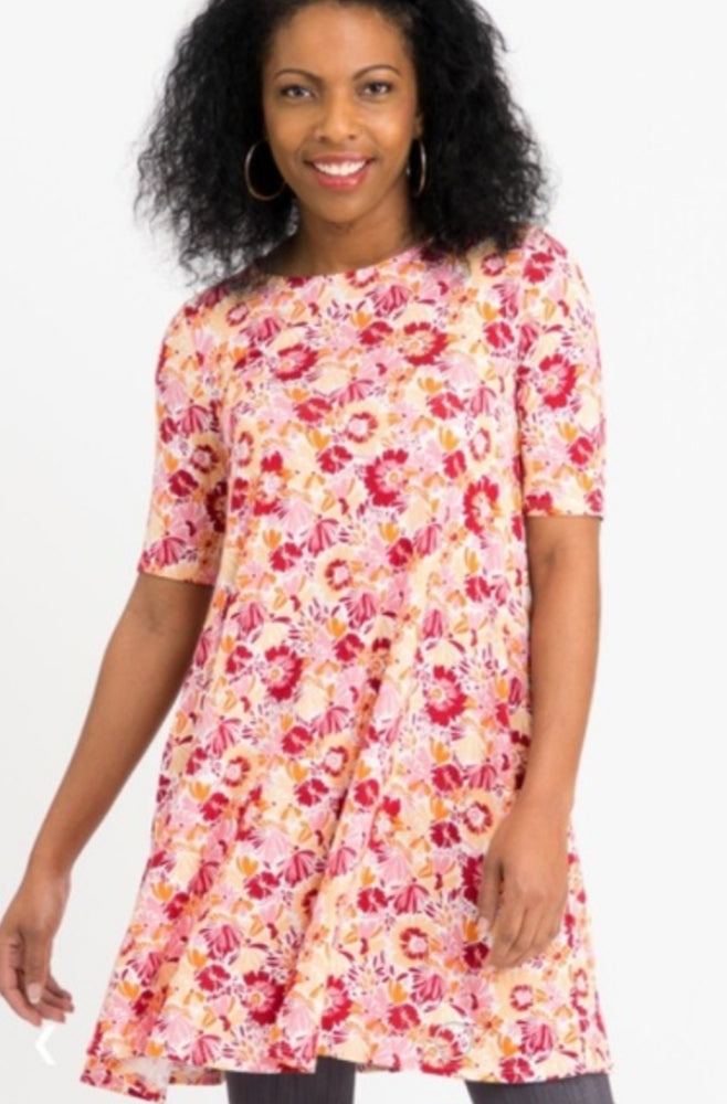 Swing Tunic - Pink Berry