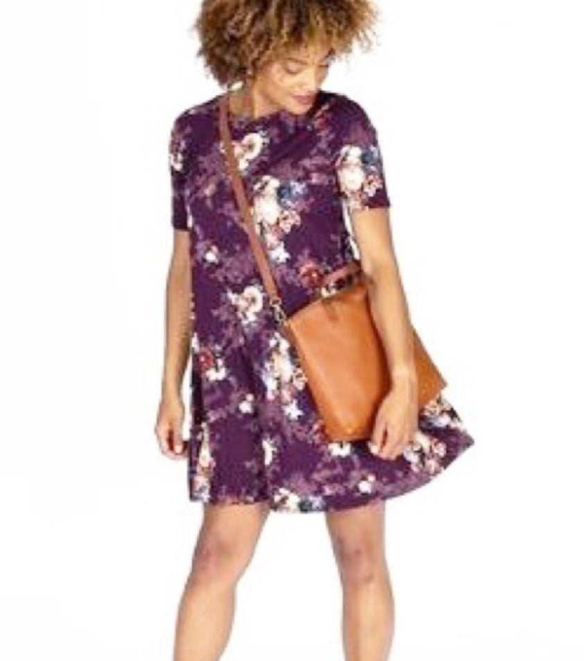 Swing Tunic - Purple Vintage Floral