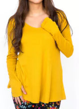 Load image into Gallery viewer, Thermal Tee - Long Sleeve - Mustard