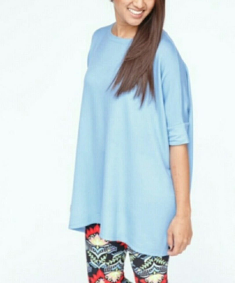 Boxy Tee - Blue French Terry - Agnes & Dora
