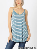 Reversible Tank - Blue Grey/Ivory