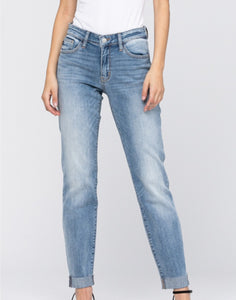 Judy Blue Jeans - Boyfriend With Raw Cuff
