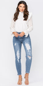 Judy Blue Jeans - Destroyed Relaxed Fit