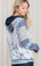 Load image into Gallery viewer, Marbelous Double Hoodie - Navy