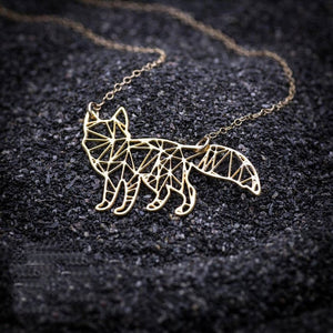 Geometric Cat Necklace