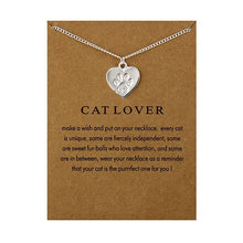 Load image into Gallery viewer, Cat Lover Wish Necklace