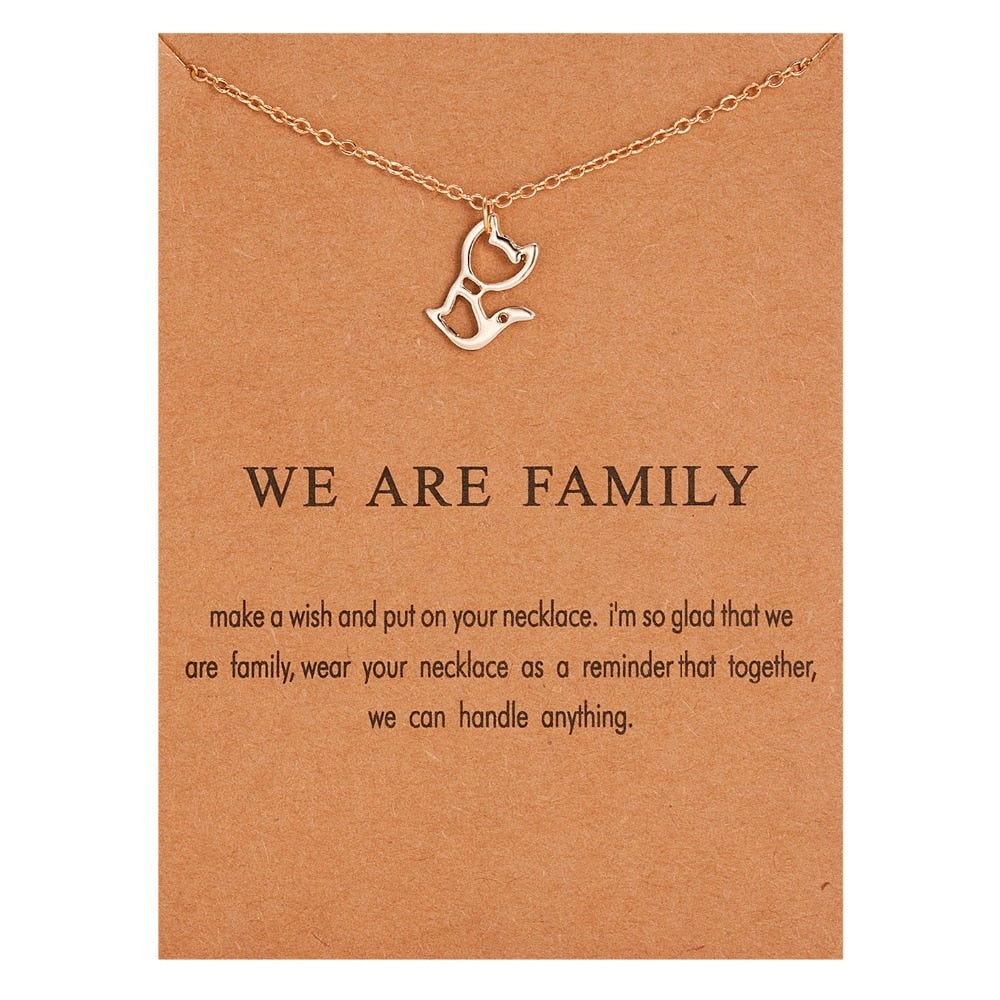 We Are Family Wish Necklace